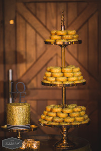 Gold doughnut tower