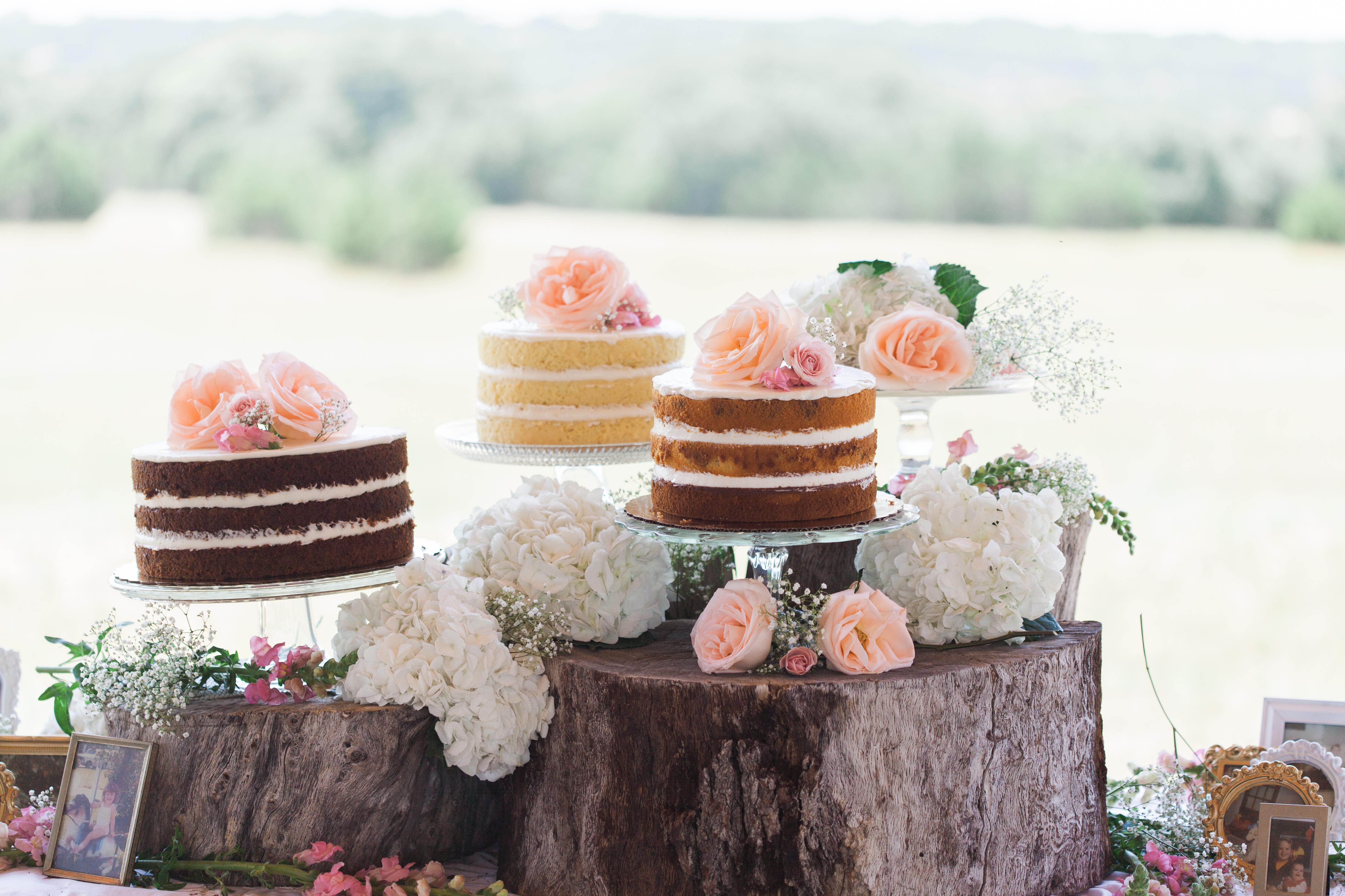Sugarize Naked Wedding Cake