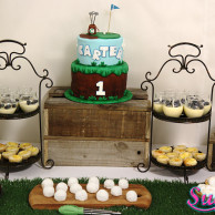 Golf themed dessert table buffet sugarize