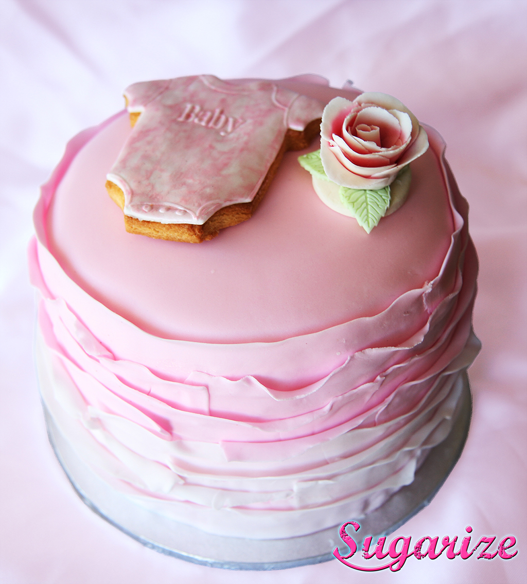 Sugarize ombre ruffle cake 2 pink