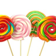 Colorful spiral lollipops