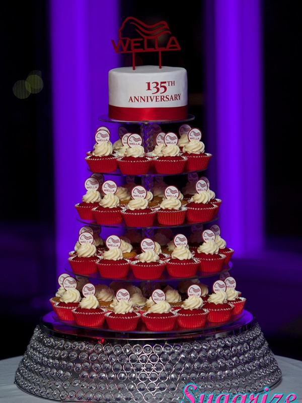 Wella cupcake tower